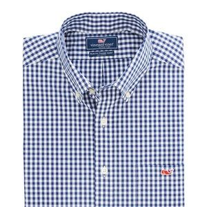 Men's vineyard vines tucker shirt checkered